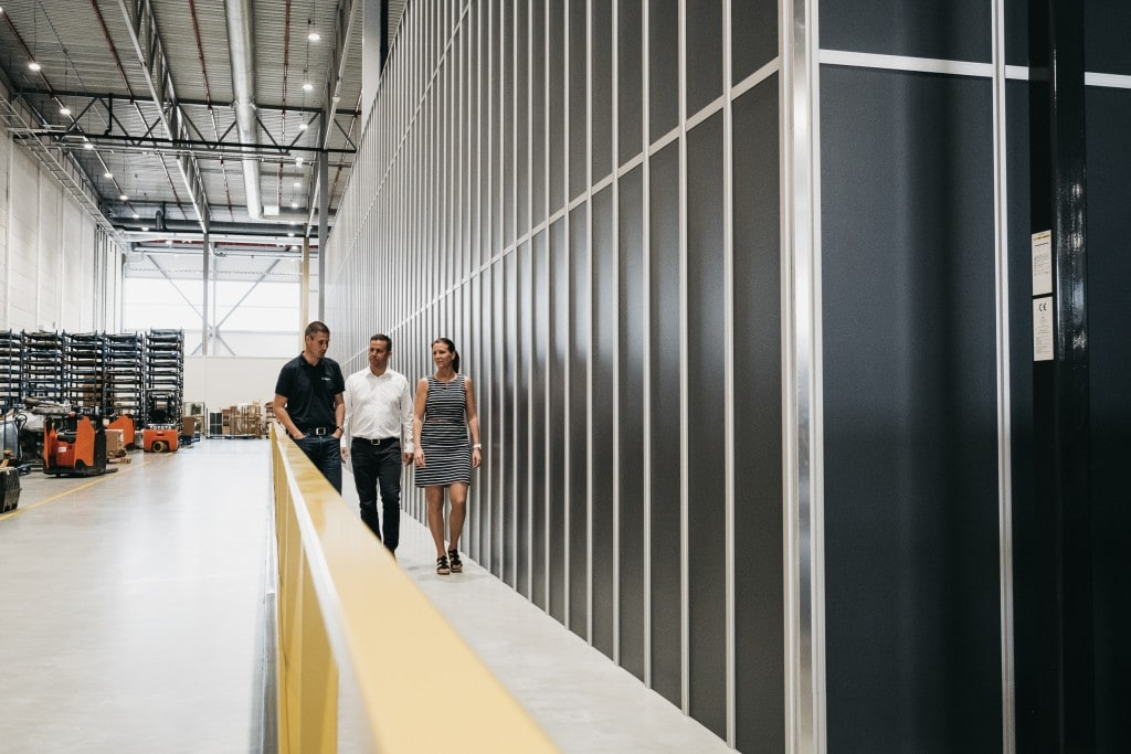 Bertel O. Steen team and Håvard Hallås from Element take a tour of the new warehouse