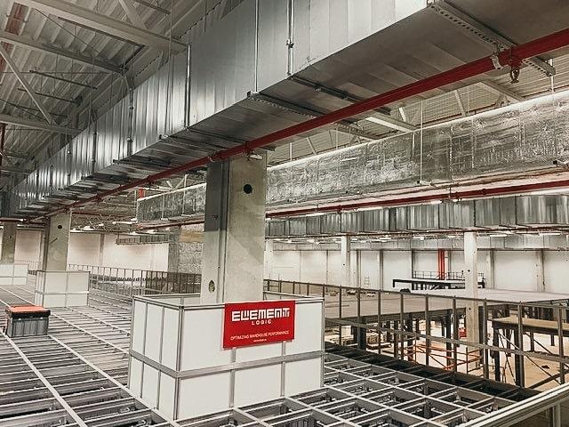 AutoStore grid at TTI on mezzanine